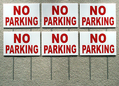 2 color NEW 2 NO PARKING TOW AWAY ZONE 8X12 Plastic Coroplast Signs with Stake
