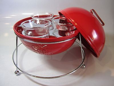 Partylite ~ Barbeque Lights Votive Holder ~ Red Miniature Barbeque New In Box
