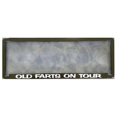 Novelty Number Plate Frame - Old Farts On Tour  Car Auto Accessories Gift