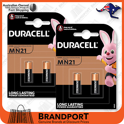 4 (2x2) Duracell MN21 21/23 V23GA A23 K23A LRV08 8LR50 Battery Fast Post Genuine