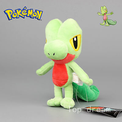 "New Pokemon Treecko Plush Toy Soft Stuffed Animal Doll 20cm 8"" Teddy Kids Gift"