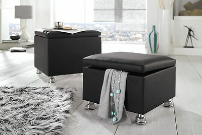 sitzhocker mit stauraum im gobelin design hocker bank. Black Bedroom Furniture Sets. Home Design Ideas