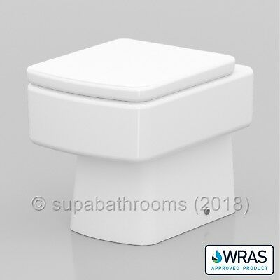 Bathroom BTW Back to Wall Paros WC Toilet Pan Including Soft Close Toilet Seat