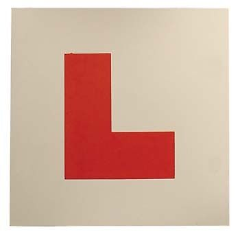 2 x SELF ADHESIVE L-PLATE LEARNER PLATES