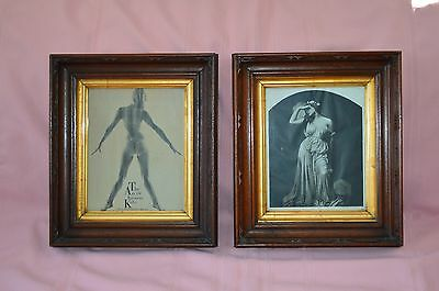 ANTIQUE GORGEOUS HAND CARVED WALNUT GOTHIC STYLE WOODEN PICTURE FRAME GOOD CONDT