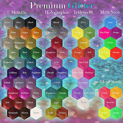 5x LARGE PREMIUM 10g Bags of Fine Nail Art Craft Glitter! YOU CHOOSE COLOURS!!