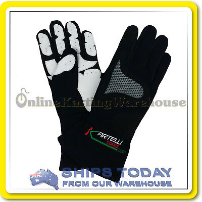 GO KART GLOVES KARTELLI PROFESSIONAL RACING GLOVES - NEW - All Size kids to XXL