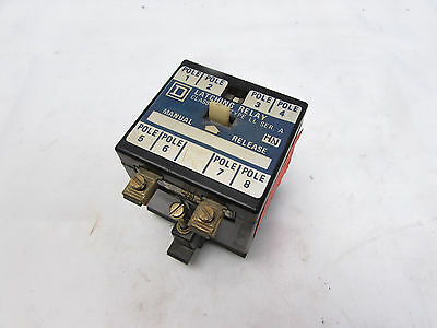 Square D 8501 Type Ll Latching Relay Ser A 8Pole 120/110V 50/60Hz ***xlnt***