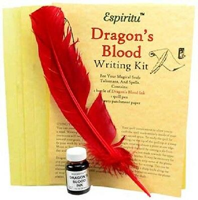Dragons Blood Writing Ritual Spell Kit Pagan Witchcraft Altar Supply