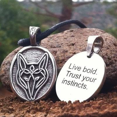 Celtic Wolf Strength Limited Edition Pendant Necklace Wiccan Pagan Jewelry