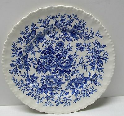Vintage Blue and White Porcelain Printemps Floral Plate Grindley England