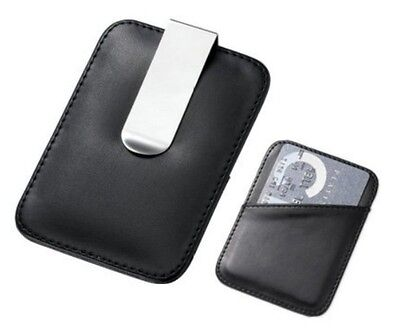 Quality Leather Money Clip and Credit Card Holder