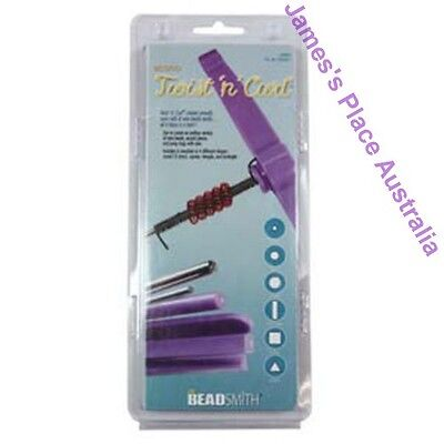 Twist N Curl - Wire twisting Tool - 6 different Shaped Coiling Mandrels