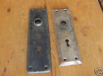 Vintage Lot of 2 Steel Door Knob Back Plate - Stock # B-6887