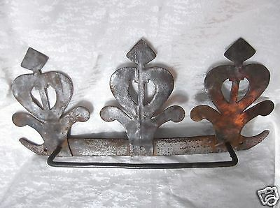 Antique Tin and Wrought Iron Triple Crown Gas Station Rack