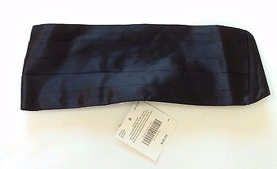 NWT Janie and Jack Weddings and Celebrations Size 4-8 Black Silk Cummerbund