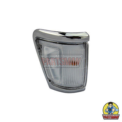 RH Indicator Park Corner Lamp/Light Chrome Clear Toyota Hilux 4WD 11/91-9/97
