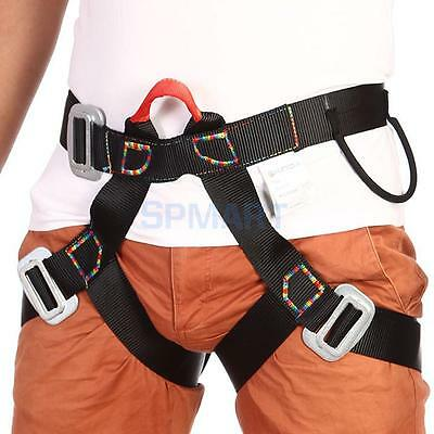 Blk Rappelling Rock Climbing Harness Seat Safety Sitting Bust Belt Equipment