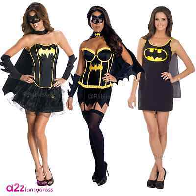 Adult Sexy Batgirl Batman Superhero Ladies Fancy Dress Costume Hen Party Outfit  sc 1 st  PicClick UK & LADIES BATGIRL COSTUME Batman Superhero Halloween Fancy Dress Womens ...