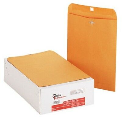 "Office Impressions, Clasp Envelopes, 9"" x 12"", Brown Kraft, 200 Count"