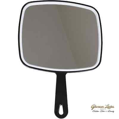 Black Hand Held Salon Mirror Hair Dressing Supplies Professional Also For Beauty