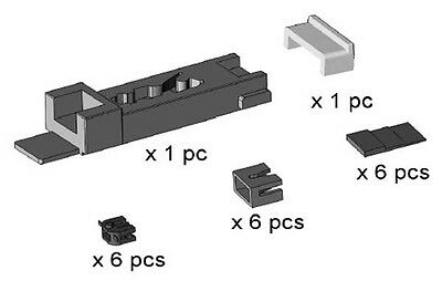 Dapol 2A-000-009-NSPARE9 6 x N Gauge Magnetic Coupling NEM Conversion Kits - T48