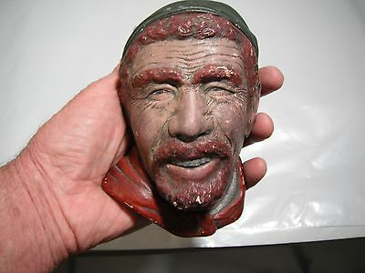 Vintage Bosson's Chalk Ware Head England Unmarked Unidentified
