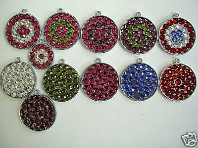 Red Siam Pet ID Tag Dog Tag Cat Rhinestone