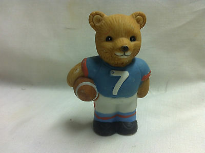 Homco Tiny Bear- Football Player