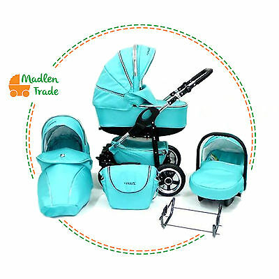 Baby ZAPP Pram Pushchair Buggy Stroller 3 in 1 Travel System Optional +Car Seat