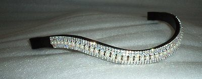 New Designer Look U Pearl with clear Crystal Browband Great Gift *offer* BLACK