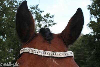 New BLING! Designer Look U clear/Pearl crystal  Browband Great Gift offer BLACK