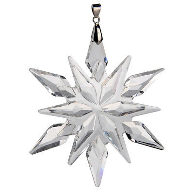 2011 Annual Clear Crystal Glass Star Little Snowflake Wedding Ornament Gifts