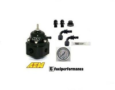 AEM Universal Adjustable Fuel Pressure Regulator DIY  KIT  #25-302BK