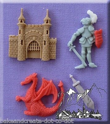 Medieval Silicone Cake Decorating Mould by Alphabet Moulds