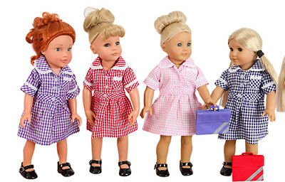 Frilly Lily Summer Uniform Our Generation Doll 18 Ins Dress/Cardy /Bookbag