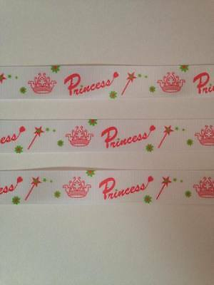 "Designer  22mm Wide.. pink 1m only £1.39 FREE P/&P Ribbon 7//8/"" NEW...."
