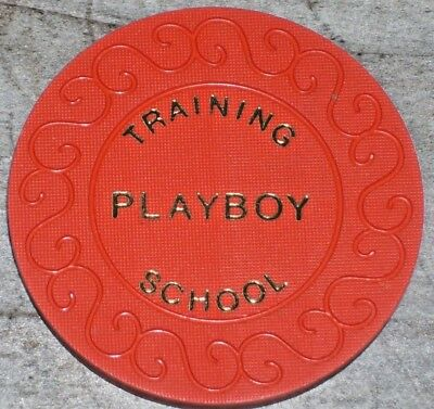 50p DEALER TRAINING CHIP FROM THE PLAYBOY CASINO LONDON ENGLAND VERY RARE