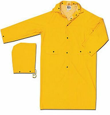 MCR Safety Classic Raincoat Yellow 35 mil, 2 piece, 49 inch Size S-6XL Stay Dry!