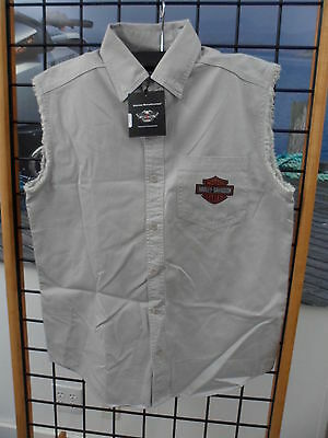 NOS Harley Davidson Mens Blowout Winged Bar Vest Shirt 99142-10VM