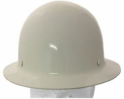 "MSA Skullgard Fiber Glass FB Hard Hat With Ratchet or Pin Lock Susp ""White"""