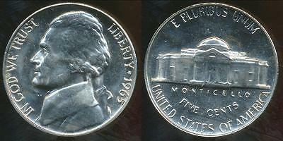 United States, 1965-SMS 5 Cents, Jefferson Nickel - Proof Like
