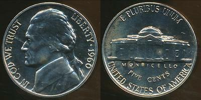 United States, 1960 5 Cents, Jefferson Nickel - Proof