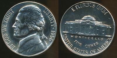 United States, 1956 5 Cents, Jefferson Nickel - Proof