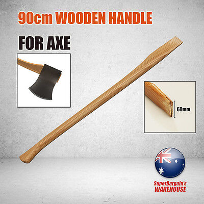 2PC x 90cm Wooden Handle Axe Heavy Duty Logging Lumbering Gardening Cutting Tool