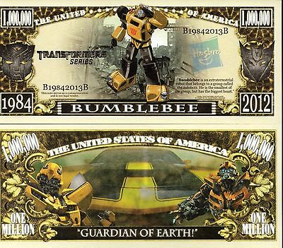 Bumblebee - Transformers Series Million Dollar Novelty Money