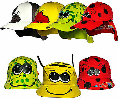Children's Animal Summer Sun Legionnaire & Bush Hat Boys & Girls Kids Cotton Cap