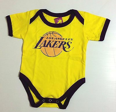 NEW Baby LA LAKERS Basketball Fans Onesies One Piece Suit Sizes 0-18 Months Old