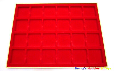 1 New Display Tray (24 Grids) Storage Case for 2x2 Cardboard Coin Holders Flips