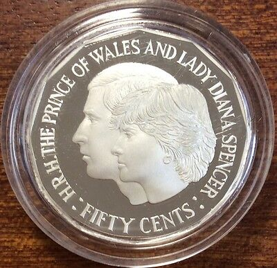 1989 fifty cent silver proof Charles and Diana - ex masterpieces set
